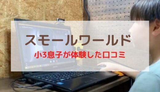 【小3息子の口コミ】スモールワールドオンライン英会話を小堀家が体験!